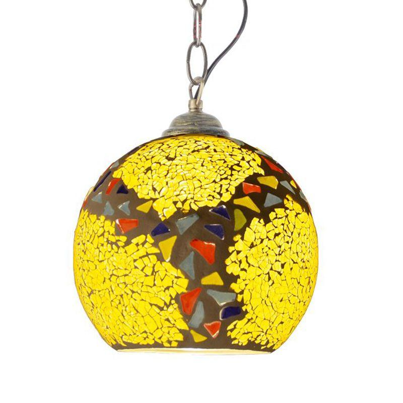 Fashion Mosaic Glass Balcony Pendant Lights Creative Hallway