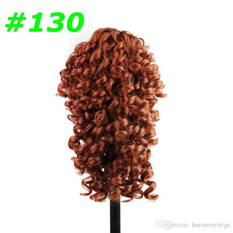 Sintético Garra rabo de cavalo cabelo crespo ondulado clipe rabo de cavalo ondulado 19 polegadas 165G extensões de cabelo sintético peças mais cores