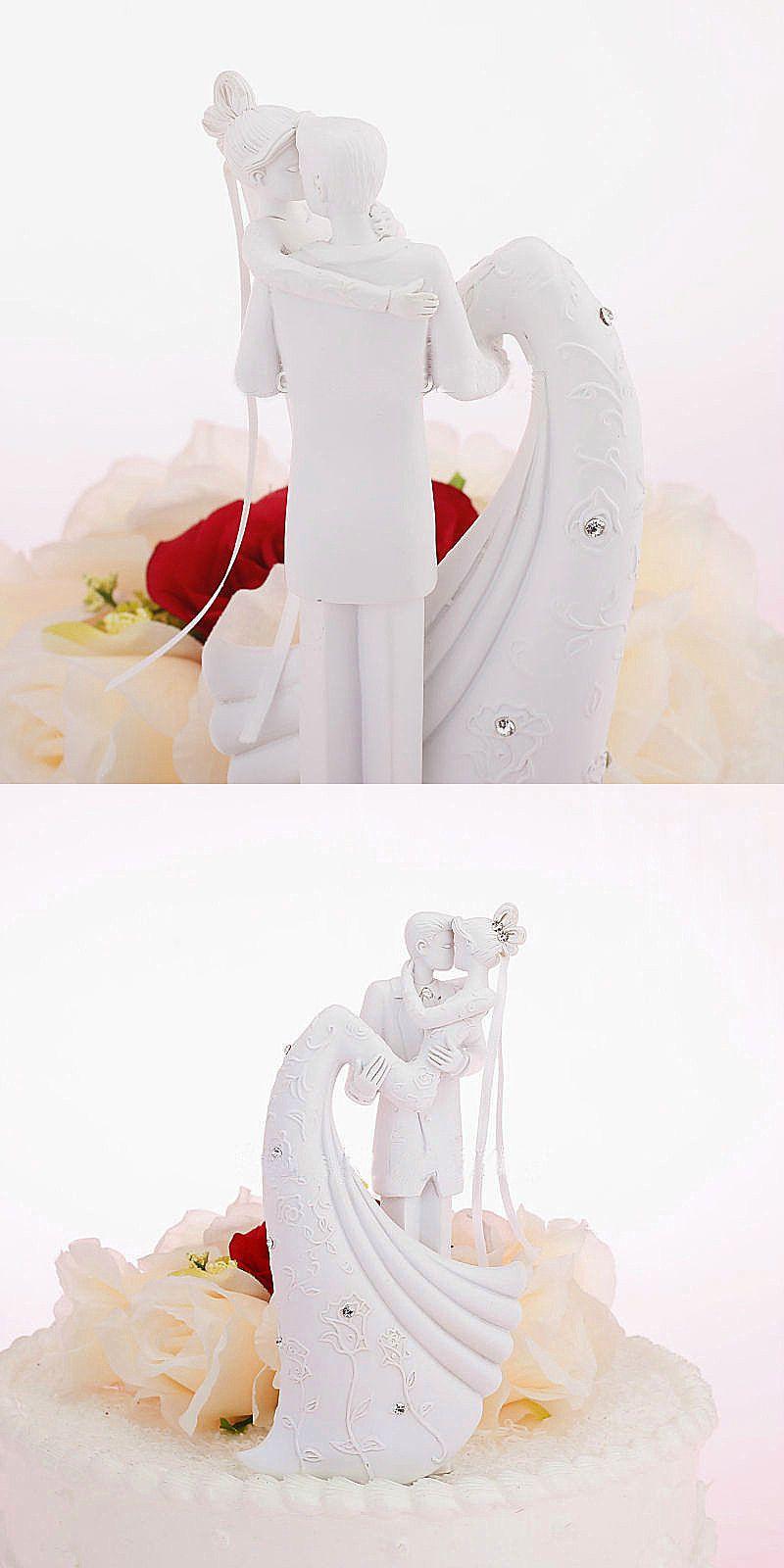 European-Style Wedding Cake Decoration Wedding Dolls White Romantic Wedding Cake Topper The Bride And Groom Cake Decoration