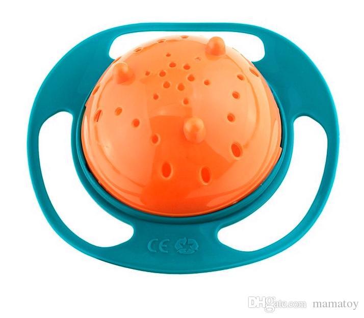 Universal Gyro Bowl Niños Niños Bebés Niños Juguete Bowl No Derrame Coma Alimentos Bocaditos Bowl Lunch Box Niños Regalos de Navidad