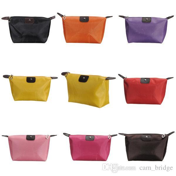 Waterproof Nylon Cosmetic Makeup Bags Handbag Purse Pouch Zipper Nice Design Reusable Portable Cosmetic Bags A310