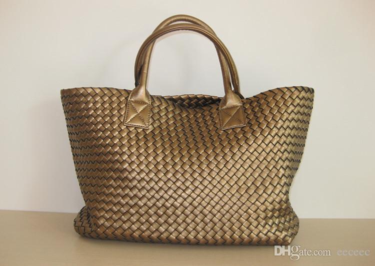 Brand New Woven Leather Как Вышивка крестом Hobo Большая сумочка Женская мода сплетенный мешок кошелек Повседневный Tote