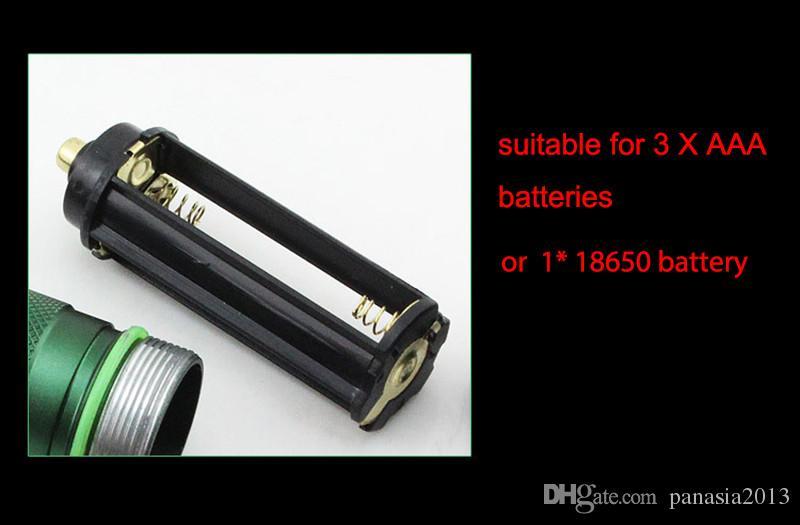 새로운 도착 자기 방어 LED가 FlashLight 크리어 Q5 플래시 라이트 토치 램프 강력한 랜턴 전술 Lanterna 비상 방어 램프 토치