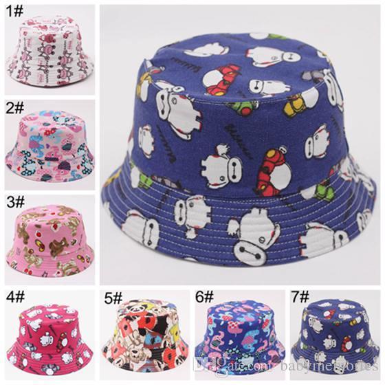 2019 Kids Bucket Hat Cap Baby Summer Hats Boy Girls Sun