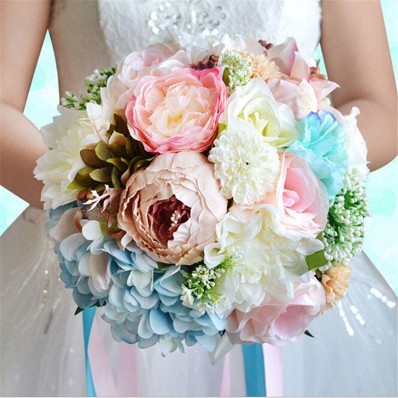 2017 New Arrival Beautiful Colorful Bridal Bridesmaid Flower Wedding ...