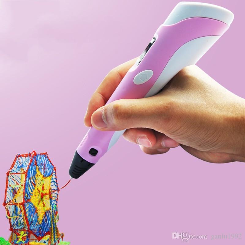 Смешные пластиковые 3D принтер Ручка личность новинка четыре цвета инструмент для рисования для детей головоломки граффити ручки высокое качество B R