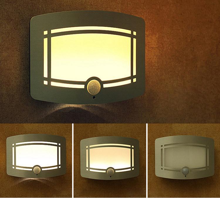 battery powered 07w portable wall light the motionlight sensor smart led light universal home use also as emergency light