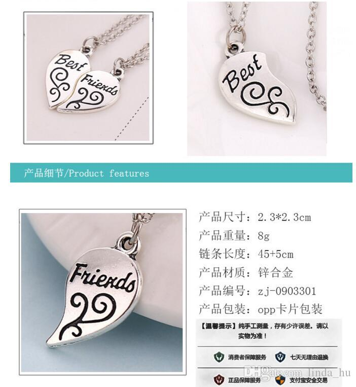 2016 summer European and American fashion retro hot new best friends necklace grade alloy pendant jewelry