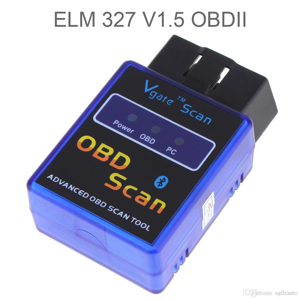 Universale Mini ELM327 V1.5 Bluetooth Wireless OBD2 Code Reader veicolo auto auto strumento di scansione diagnostica CEC_A01