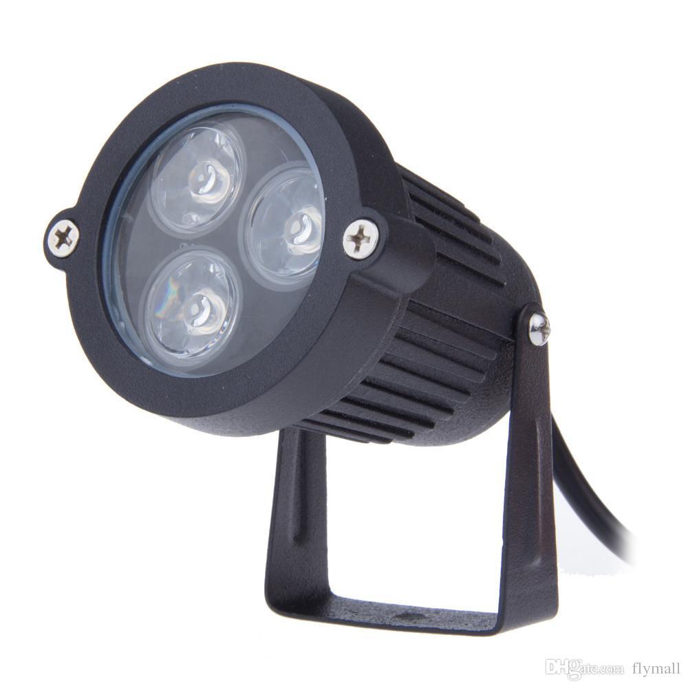 Супер Яркий 9 Вт Светодиодный Свет Газона Лампа 110 В 220 В Водонепроницаемый Наружного Освещения Зеленый Желтый Красный Синий Белый 3 * 3 Вт Светодиодный Газон Прожектор Для Сада