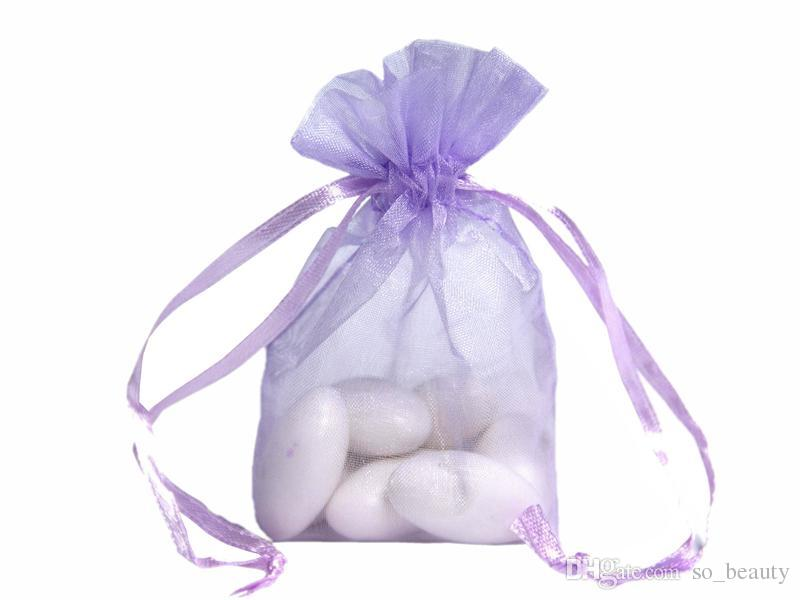 100шт органзы упаковка сумки ювелирные сумки свадебные сувениры Рождественская вечеринка подарочная сумка 9 х 12 см  3,6 х 4,7 дюйма