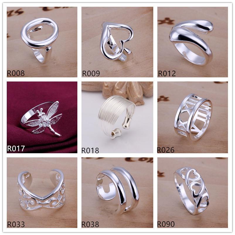 Marke neuer hochgradiger Silberring 10 Stück Mischartauftrag, 925 silberner Ring GTR1 Verkauf der Fabrik