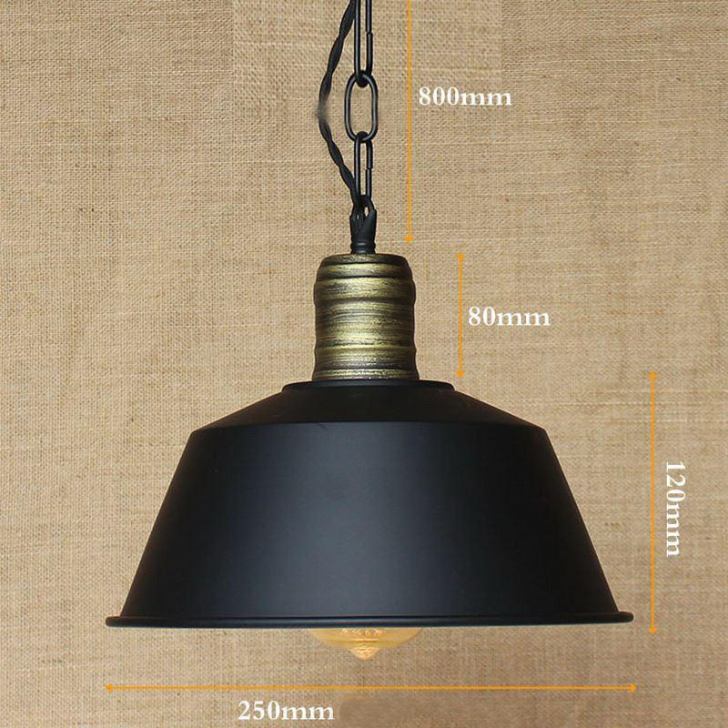 Hanging hardware lighting lights loft retro industrial metal shade pendant lamp illumination for kitchen bar coffee lights ceiling lights modern copper
