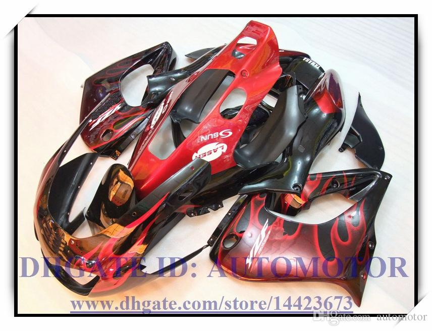 ABS rosso nero nuovissimo kit carenatura adatto YAMAHA YZF1000R 96-07 YZF 1000R 1996-2007 YZF1000R 1996-2007 1997 1998 1999 2000 # CH763