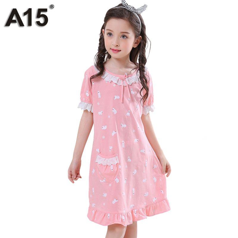 Wholesale A15 Girls Pajama Dress Baby Children Nightgown Sleep Wear ...