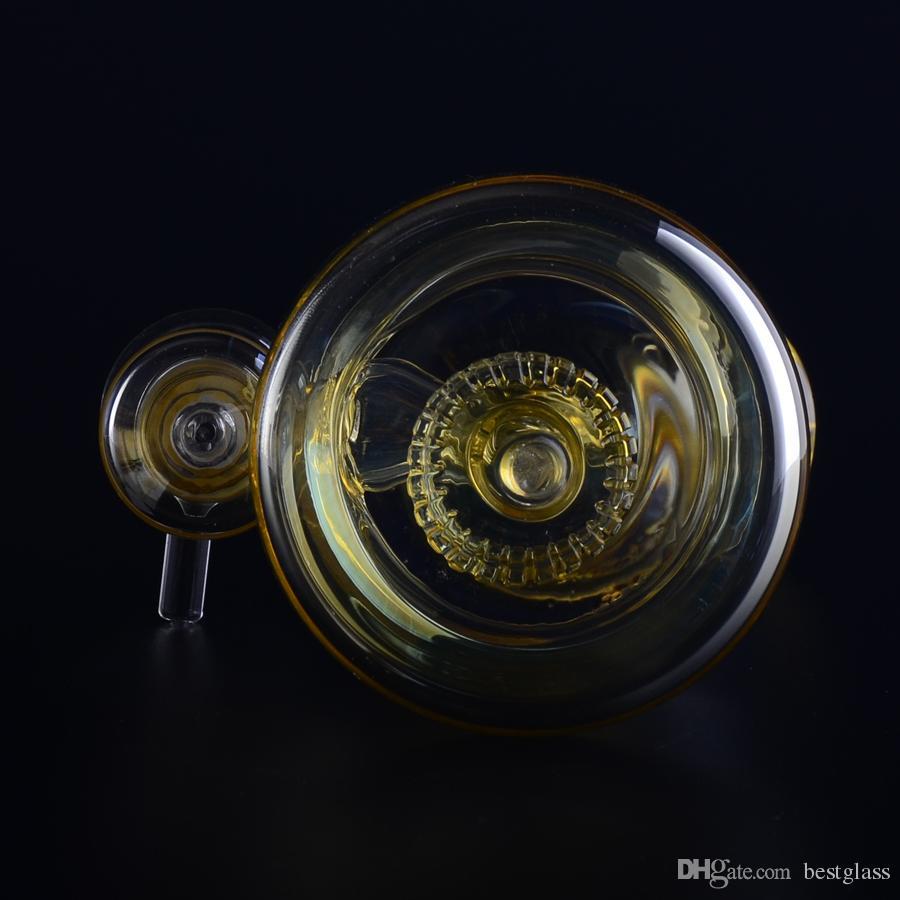 Barato Big Tire Perc Bong Tubo de Agua de vidrio con 14,5 mm junta tazón seco envío gratis BestGlass G37