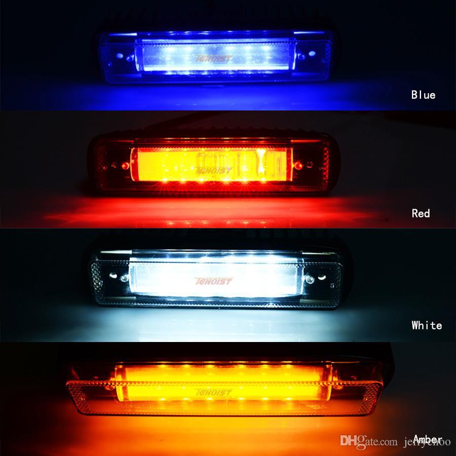 Yeni 6.2 Inç 20 W Kırmızı Beyaz Mavi DRL Uyarı Fren Işık Için Offroad Forklift Wrangler Kamyon Araba SUV ATV UTV 12 V 24 V