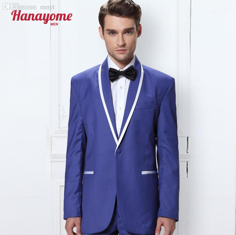 2018 Wholesale Purple Prom Suits Shiny Tuxedo Purple Suits For Men ...