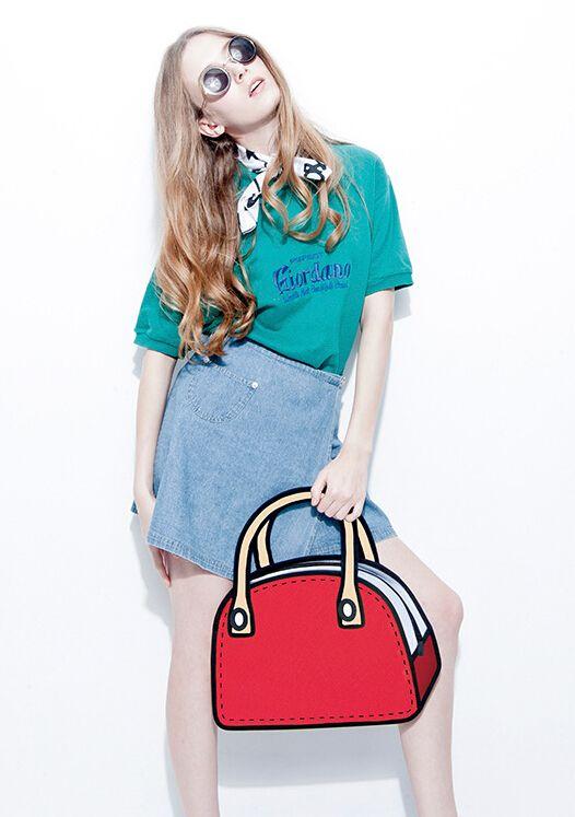 Hot Sale Women Shoulder Bag D Cartoons Bag D Drawing - Cartoon handbags