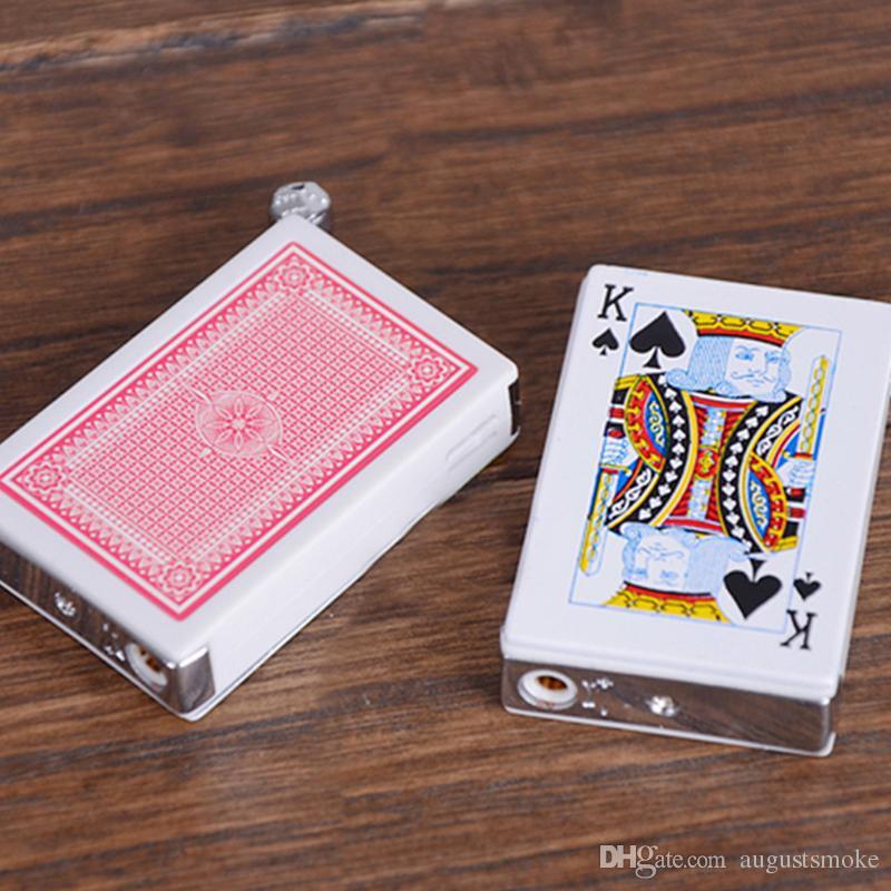 April Fool electric shock lighter Creative gas Lighter Cigarette plastic Poker Lighter for Cigar kitchen tool
