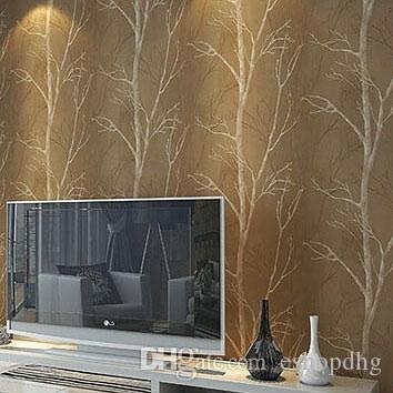 Acheter 10 M Rouleau Naturel Conception Arbre Foret Texture Papier