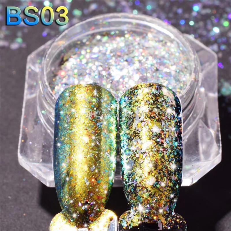 Trendy fai da te Shinning Chrome Specchio Powder unghie i metallo di arte del chiodo della decorazione di punta Pigment Glitters polvere 1g