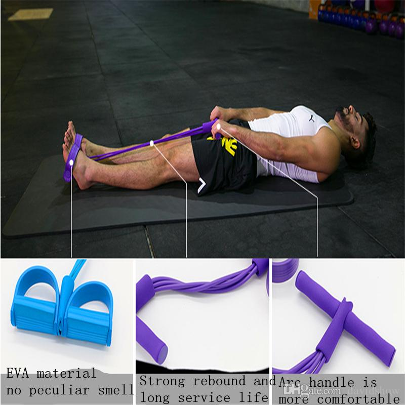 Two, four foot pedal chest abdominal crunches men and women multi-functional fitness equipment, many colors to choose from.