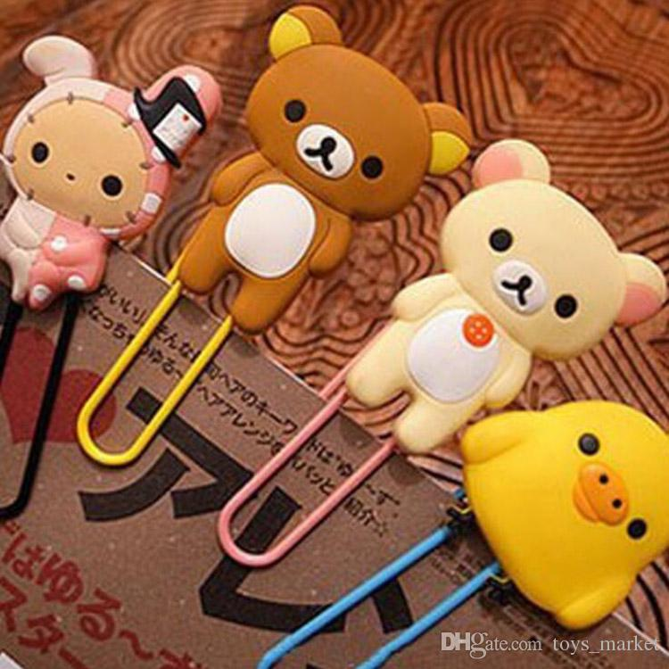2019 New Cute Kawaii Rilakkuma Series Plush Ball Bookmark For Books Clip Memo Clip Paper Clip Bookmark Novelty Gift Bookmarker Bookmark Labels, Indexes & Stamps