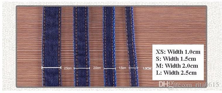 Dog Leads harness leash Collars Adjustable jeans denim cloth Cat rope belt adjustable collar dogs for Medium Large dogs Pet Product