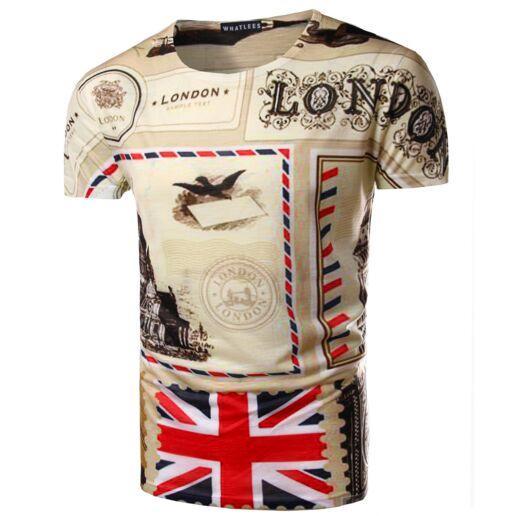 Uk England Flag Tshirts New Fashion Menwomens 3d Character T