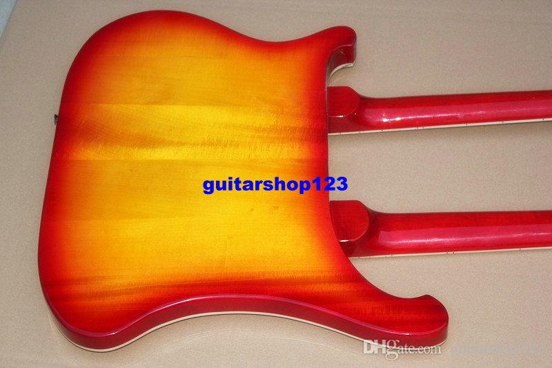 En kaliteli Çift boyun elektrik bas gitar 4 dize bas and6 dize gitar beyaz siyah kiraz Elektro Gitar Ücretsiz kargo