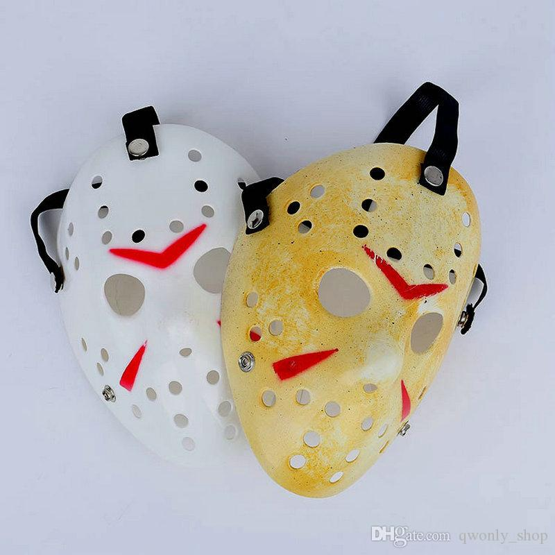 Gold White Vintage Party Masks Delicated Jason Voorhees Freddy Hockey Festival Halloween Masquerade Mask
