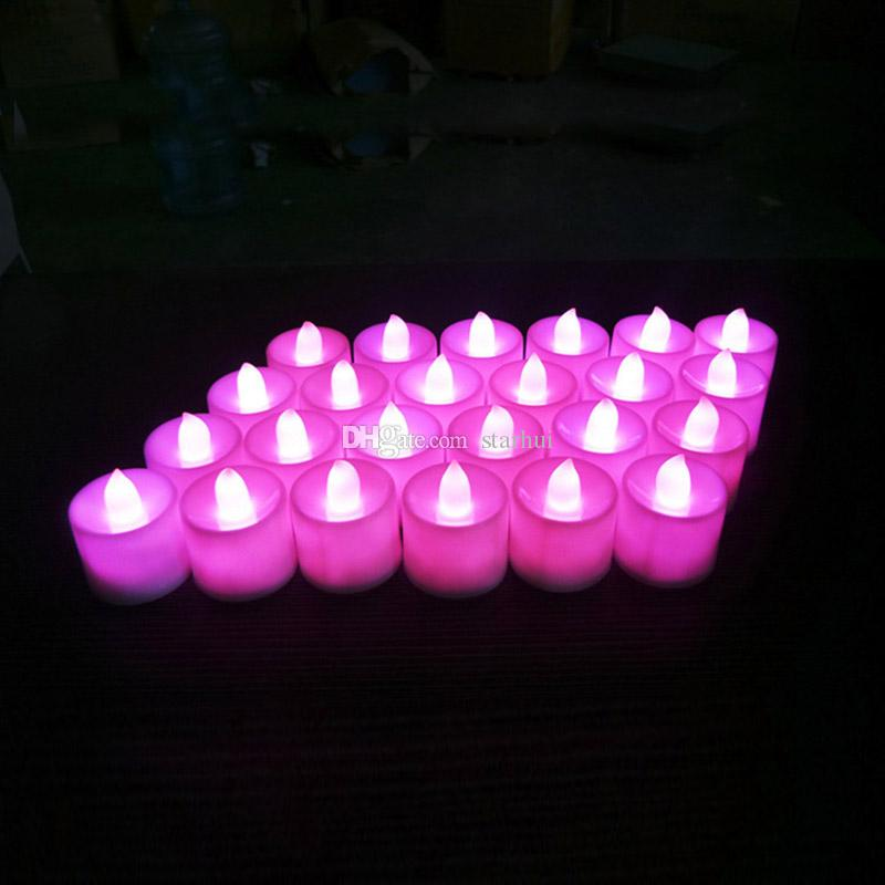 LED Electronic Candle Lights Festival Celebration Electric Fake Candle Flickering Bulb Battery Operated Flameless Bulb WX9-55