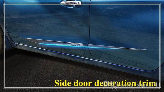 High quality stainless steel side door decoration bight trim, door streamer,door scuff plate with logo for Nissan Lannia/bluebird 2016