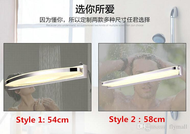 15W LED Mirror Light Modern Luxury Bright LED Crystal Bathroom Wall Lamp Mirror Front Wall light Wall Sconces Washroom Wall Lamp 54cm 58cm