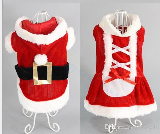 Santa Claus clothes puppy costume dog Shawl Cloak cat coat pet outfit party Accessories Christmas clothes gift