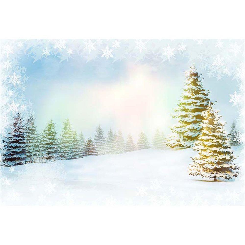2018 Merry Christmas Snowflake Backdrop Vinyl Digital Printed Snow ...