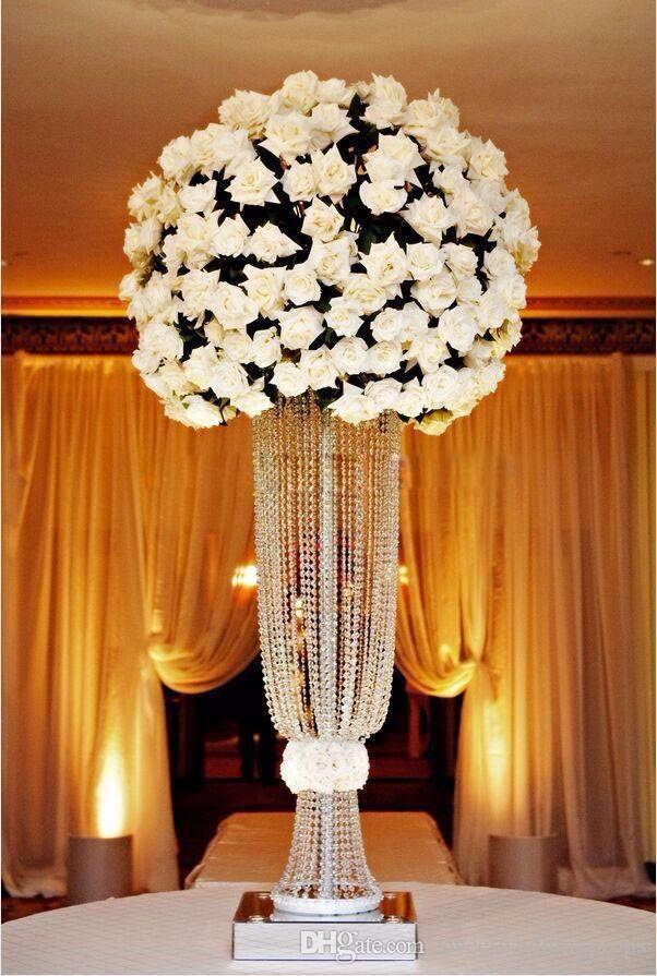 웨딩 크리스탈 테이블 센터 조각은 꽃 스탠드 웨딩 센터, 웨딩 장식