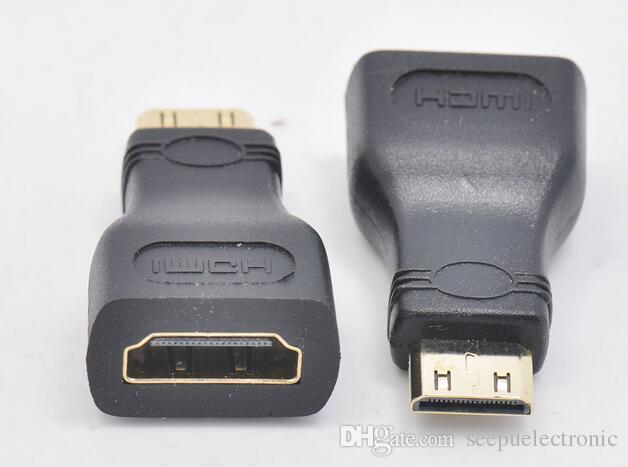 Echte hochwertige Mini-HDMI-Stecker auf Buchse Connetor Adapterkopf flach DV-Kamera zum Anschluss von TV HDMI