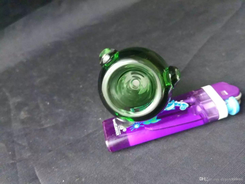 무료 배송 도매 ---- 컬러 유리 그릇 18mm, 물 담뱃대 / 유리 봉 / 파이프 피팅, 두꺼운 유리 연소 도관