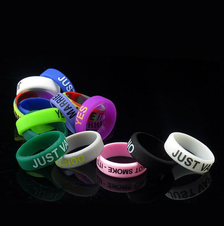 HOttest Sale 22mm Vape Band Silicone Rings Non-Slip Colorful Rubber Vapor Rings For Ecig RDA RBA Glass Tank