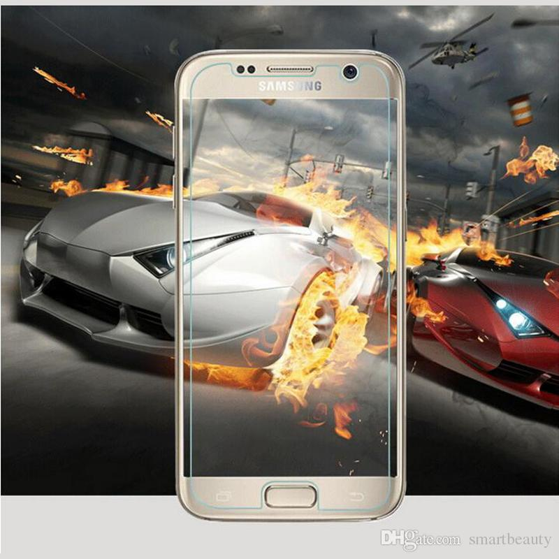 Explosion-proof LCD Clear Tempered Glass For Samsung Galaxy S7 Transparent Screen Protector Film Ultra thin For Samsung Galaxy S4 S5 S6 S7