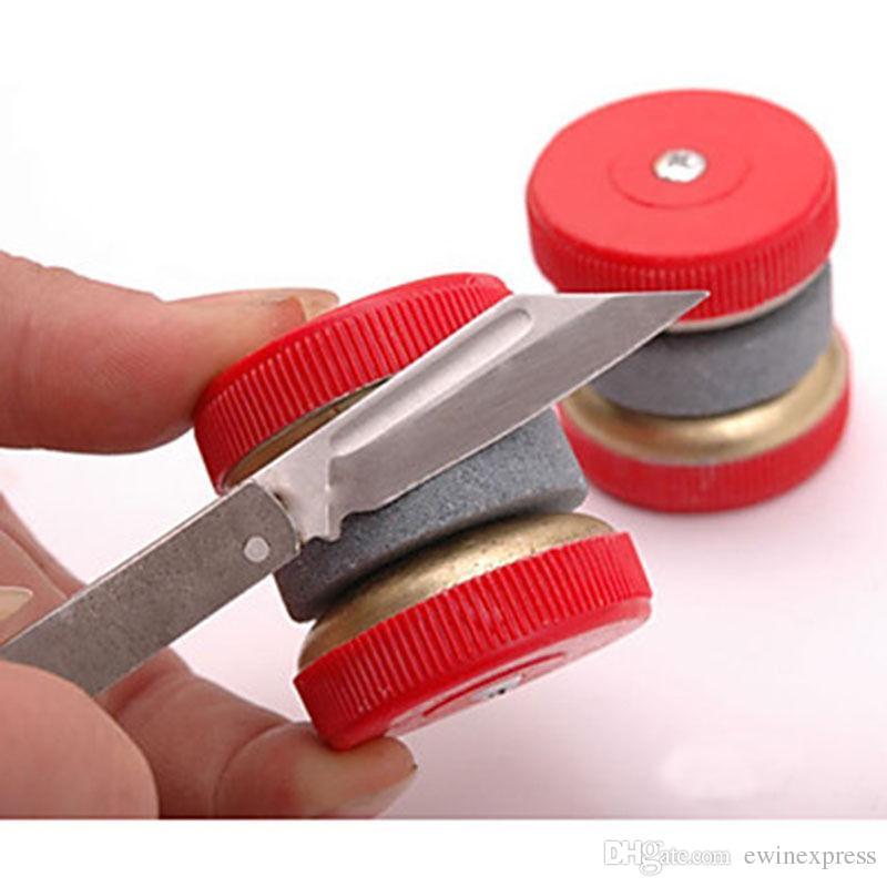 جديد حار بيع نوعية جيدة سكين مبراة المشحذ معدات المطبخ زاوية حادة أداة 2 طحن عجلات