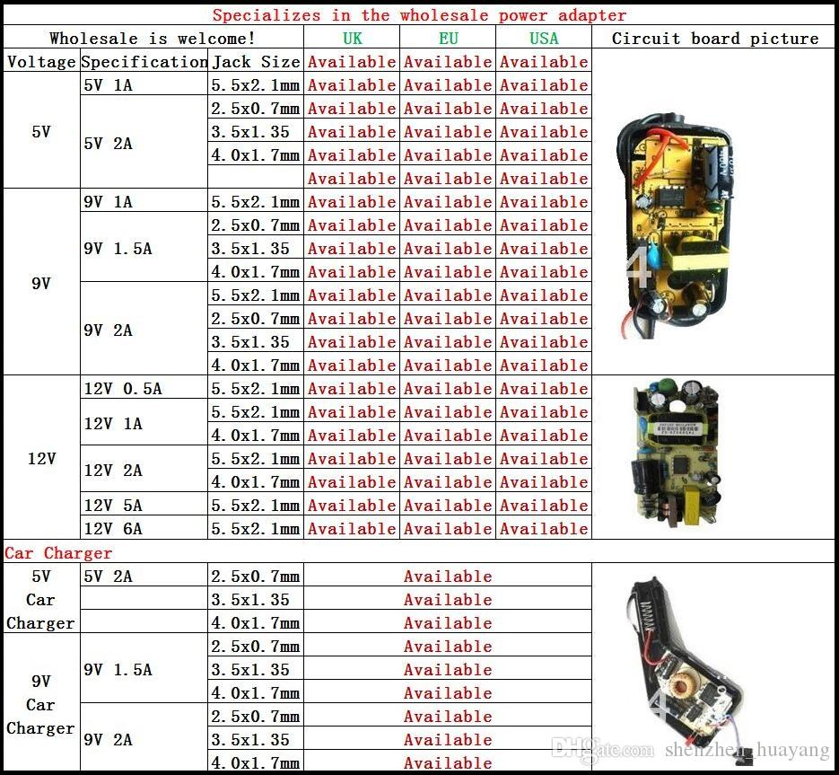 무료 배송 5V DC 2A 2000mA AC 어댑터 3.5mm x 1.35mm EU / US 플러그 홈 벽 충전기 전원 공급 장치 코드