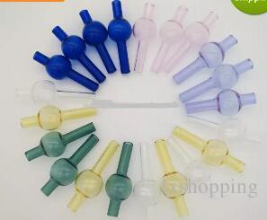 Bunte Glaskugel-Carb-Kappen-Blase für thermisches Glasbanner Thermal Banger-Nagel-Glaswasser-Rohr-Öl-Plattformen