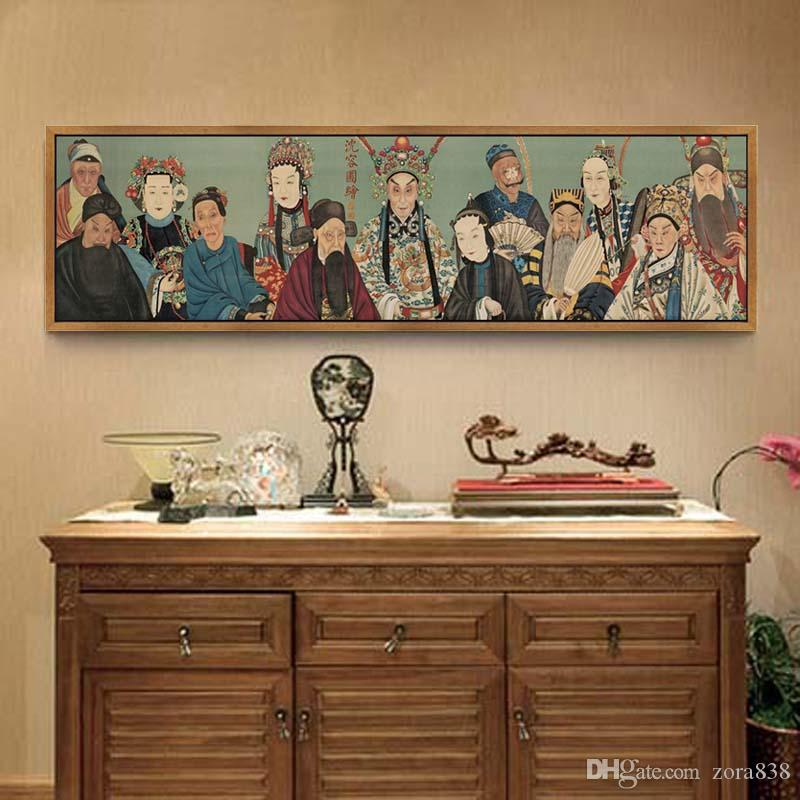 2018 Chinese Qing Dynasty Famous Paintingwith Light Refined,Thirteen  Absolutelyprinting Chinese Paintings Living Room Bedroom Bedside Murals  From Zora838, ...