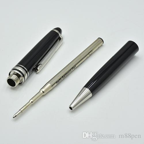 Alta Qualidade Meisterstok 163 caneta esferográfica de resina preta escola escritório papelaria luxo monte Escrever canetas de recarga para o Presente do negócio