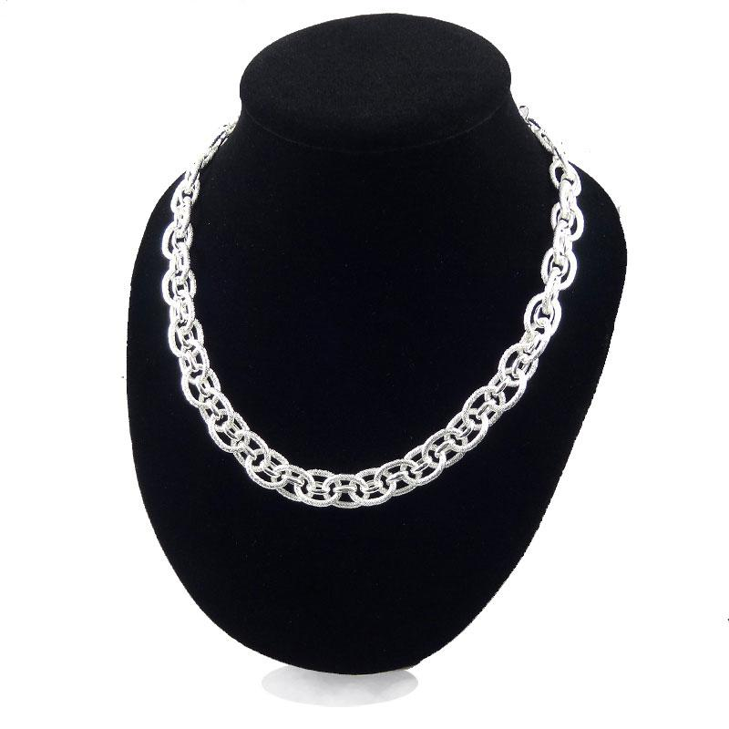 Silver Choker Necklace Chain Ring To Ring Jewelry Women Link Ornaments 30% 925 Sterling Silver Chain Necklace Wedding Jewelry
