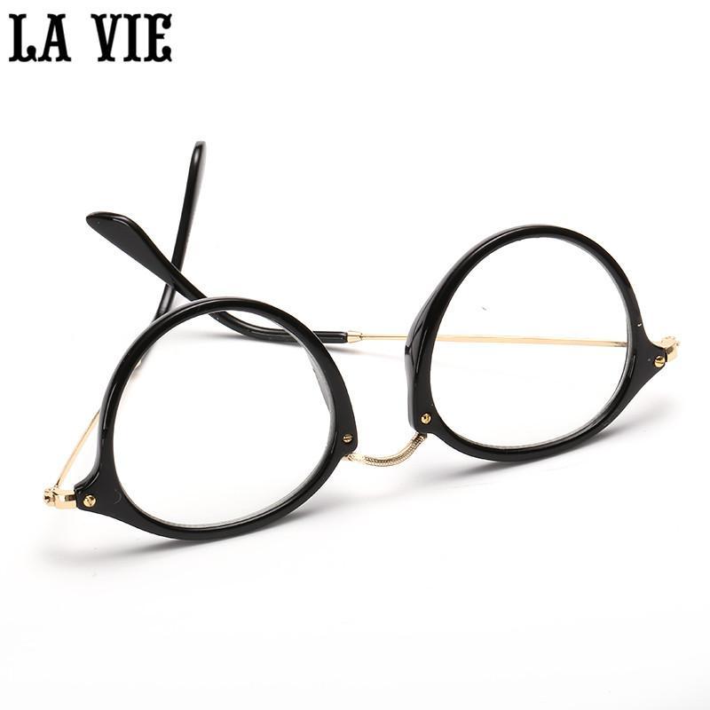2018 Wholesale Retro Round Eyes Glasses Frame Alloy Legs Ultra Light ...