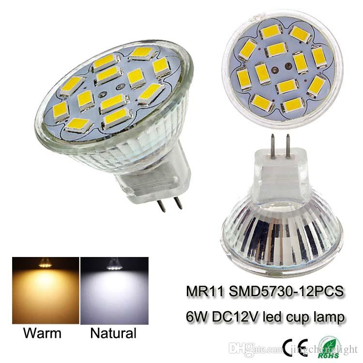 6w 12 volt led spotlights mr11 mini smd5630 12leds glass cup lighting 6 watt led spot light bulb indoor lamps from dhgatecom
